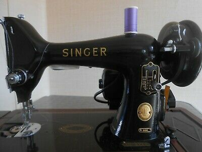 1958 Vintage Electric Singer Sewing Machine 99K EN051490 with case.