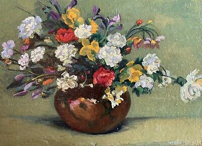 New Original Oil Painting On Canvas Realism Impressionism Still Life Flowers