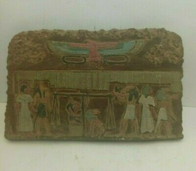 ANCIENT EGYPTIAN RARE ANTIQUE After Life Judgment Stella 1659-1563 BC