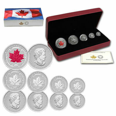 2015 Canada Fine Silver Fractional Set: The Maple Leaf - Limited Edition