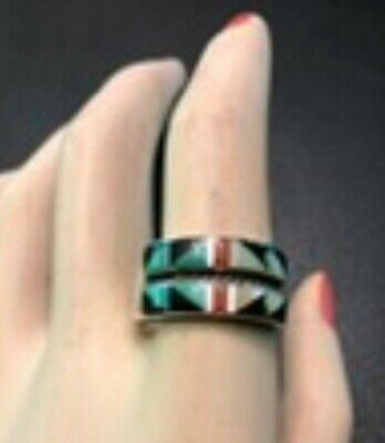 Sterling Silver Southwestern Ring, Size 10 3/4, Excellent Condition
