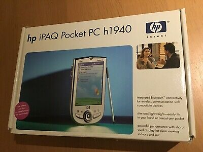 Hp I Paq Pocket Pc H1940 Boxed, User Manuals, Case, Set Up Cd, Working Great Con