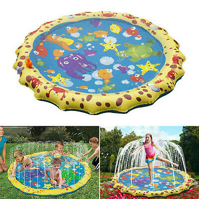 1m Outdoor Inflatable Spray Water Mat Cushion Pad Kids Children Beach Play Toys