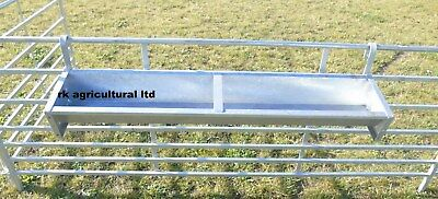 9ft Hook over galvanised sheep feed trough