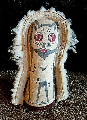 Vintage Carnival 'Fuzzy Cat' Knockdown Arcade Toy. Great Condition.