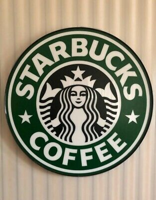 """Authentic STARBUCKS Coffee Store Front 18"""" Siren Logo Sign Wall Decor"""