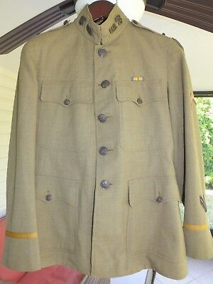 Ww1 Us Army Officer Coat Jacket Quartermaster Corps 2Nd Lt. Trousers