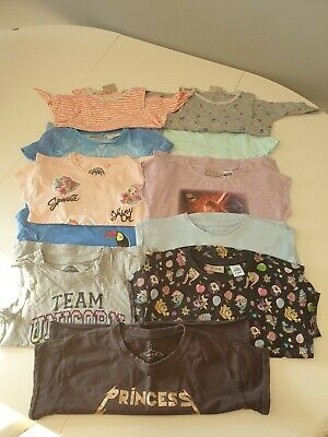 Girls Next and TU short sleeve tee's and next tops age 5-6 years