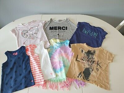 Girls Next short sleeve and sleeveless tops age 4 years