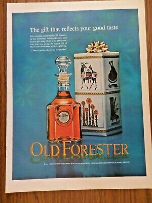 1964 Kentucky Old Forester Whiskey Ad  The Gift that Reflects your Good Taste