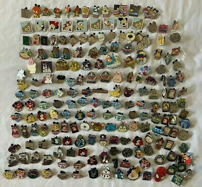 Disney Pin Collection 196 Piece Lot Hidden Mickey Trading And More