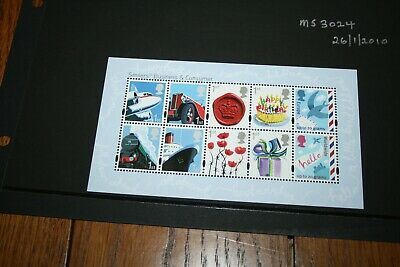 26/1/2010 Royal Mail Miniature Sheet MS 3024 Business and Consumers Smilers