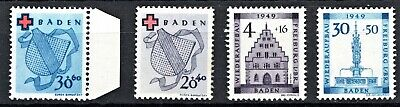 Germany -1949 Baden Issues - Mint Never Hinged**