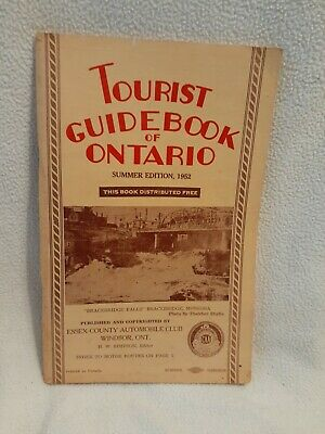 TOURIST GUIDEBOOK of ONTARIO  Summer edition 1952  FREE  SHIPPING