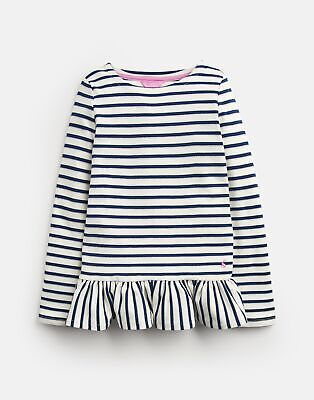 Joules Girls Polly   Peplum Long Sleeve Top  -  Size 4yr