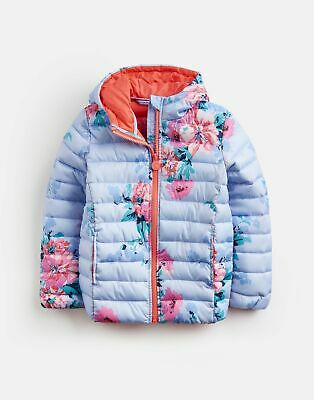 Joules Girls Kinnaird Printed   Quilted Packable Coat  -  Size 7yr-8yr