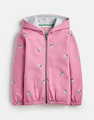 Joules Girls Maddie Fur Backed Full Zip  - PINK SHOOTING STAR Size 1yr