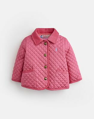 Joules Baby Girls Mabel Quilted Jacket - HOT PINK Size 6m-9m