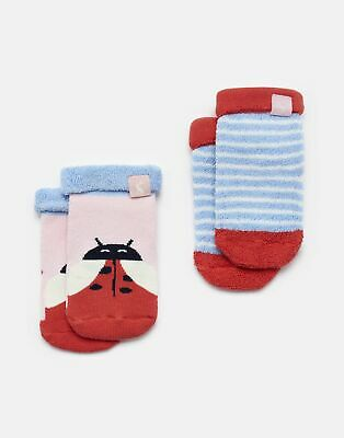 Joules Baby Girls Pack Of Two Terry   Towelling Socks -  Size 12m-24m