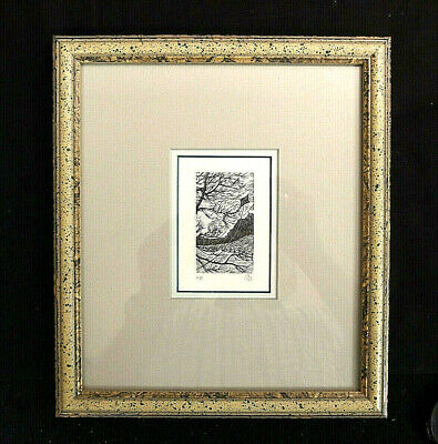 "Gerard Brender a'Brandis Signed Framed Art Print of a Wood Etching Titled ""Kite"""