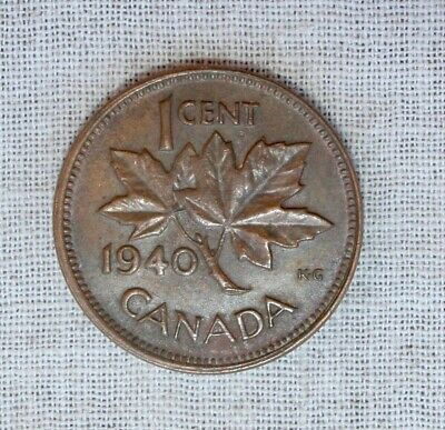 1940 Canada One Cent Coin   SHARP & ** Free Shipping **