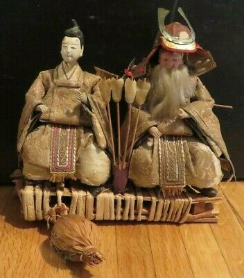 Authentic Japanese Vintage Samurai Warrior Dolls