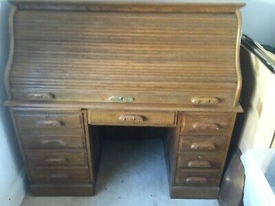 reproduction roll top desk