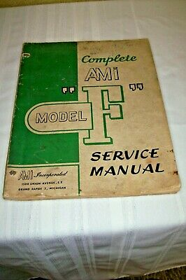 Ami Model F Jukebox Service Manual~Cabinet~Circuits~Mechanism & Sound System