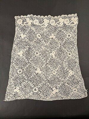 Antique Victorian Irish Crochet Lace Bodice Front For Dress