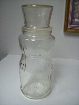Vintage Planters Mr. Peanut 1991 75th Birthday Clear Glass Jar Canister With Lid