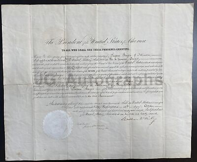 William McKinley - 25th U.S. President - Oversized Autographed Appointment Doc.