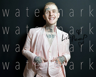 Lil Peep signed 8x10 inch picture photo poster autograph RP