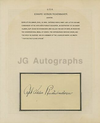 Eddie Rickenbacker - WWI Fighter Ace, Medal of Honor - Authentic Autograph
