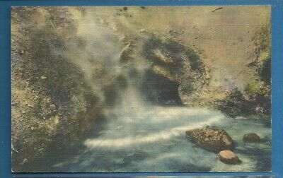 Yellowstone Nat'l Park/ The Dragon's Mouth/ linen postcard