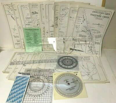 Vintage 67 Detailed Cruising Charts Bahama Islands -  Navigational Tools
