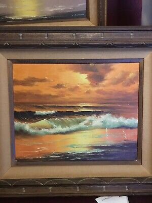 Antique Oil Painting of  a. Sunset.
