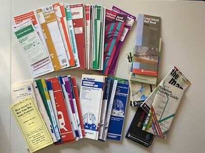 Lot of (110 different) Long Island RR and New Jersey Rail Timetables 1977-2013