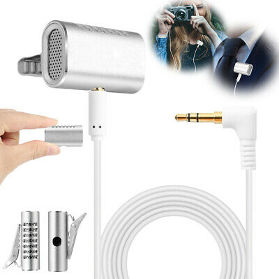 New Lavalier Lapel Microphone Omnidirectional Condenser Mic for iPhone Android