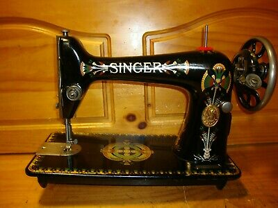 "1916 Antique Singer Sewing Machine Head Model 66K  "" Lotus ""  ,Serviced"