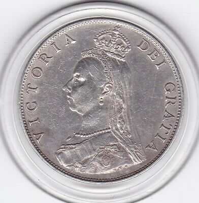 Very  Sharp  1887   Queen  Victoria    Florin   (2/-)   Sterling  Silver   Coin