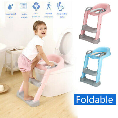 165 lbs Kids Potty Trainer Child Toddler Toilet Chair Seat w/ Step Stool  K