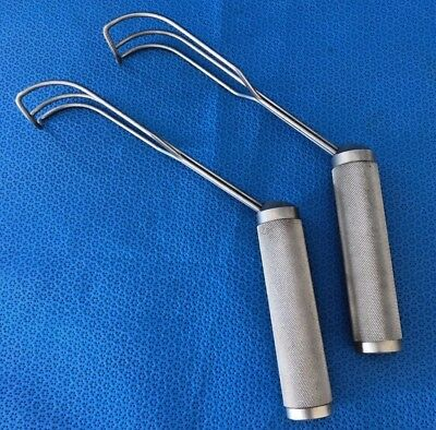 2X V. Mueller CH8123 Cooley Atrial Retractors Cardiovascular, Thoracic, Surgical