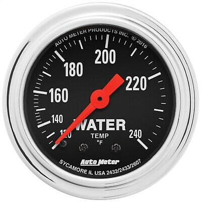 AutoMeter 2433 Traditional Chrome Mechanical Water Temperature Gauge