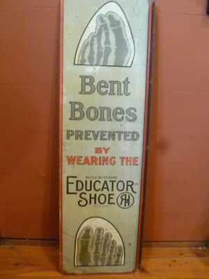 Very Rare Sign. Double Sided. Bent Bones Prevented. Educator Shoe