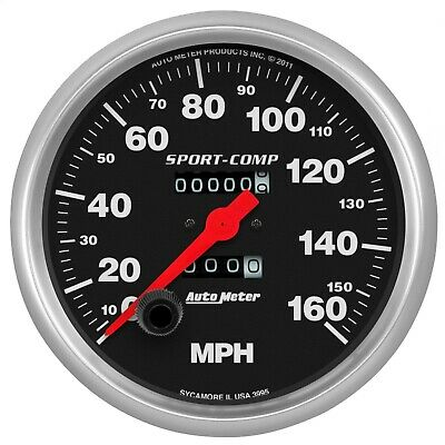 "AutoMeter 3995 Sport-Comp In-Dash Mechanical Speedometer 5"" 160 MPH"
