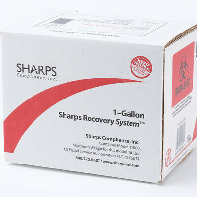 SHARPS 1 Gallon Recovery System - Model 11000 - USPS Return Container - New