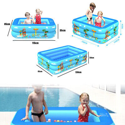 Large Paddling Garden Pool Kids Family Swimming Outdoor Inflatable Pool Relax