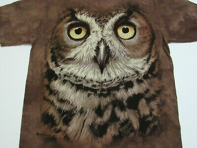 3447 All Sizes Big Great Horned Owl Head The Mountain T-Shirt