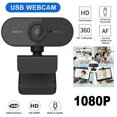 Full HD 1080P Auto Focus Webcam Built-in Microphone Camera For PC Laptop Desktop