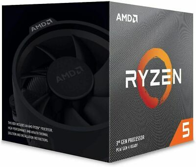AMD Ryzen 5 2600 CPU with Wraith Cooler, AM4, 3.4GHz (3.9 Turbo), 6-Core,1